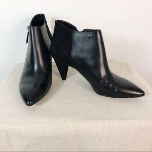 Nine West Ankle Booties Black Zipper Boots Sz 8.5